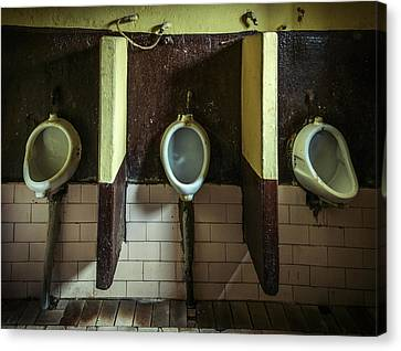 Dirty Urinals Canvas Print