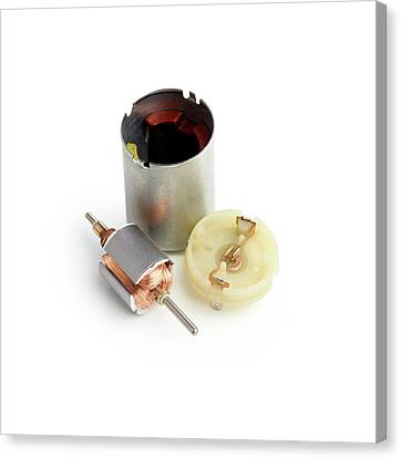 Component Canvas Print - Disassembled Dc Motor by Science Photo Library