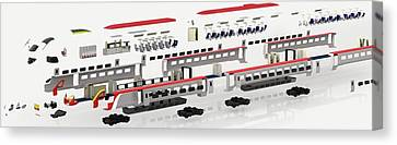 Disassembled Parts Of High-speed Train Canvas Print by Dorling Kindersley/uig