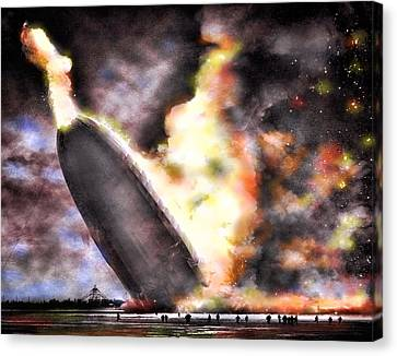 Disaster Strikes Canvas Print by Peter Chilelli