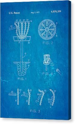Disc Golf - Frisbee Golf Patent Art 1977 Blueprint Canvas Print by Ian Monk