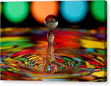 Disco Ball Drop Canvas Print