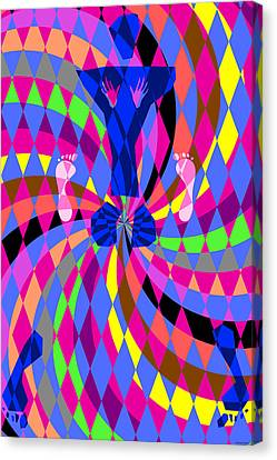 Canvas Print featuring the digital art Disco Luvin by Randall Henrie