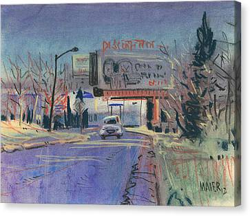 Discount Tire Canvas Print by Donald Maier