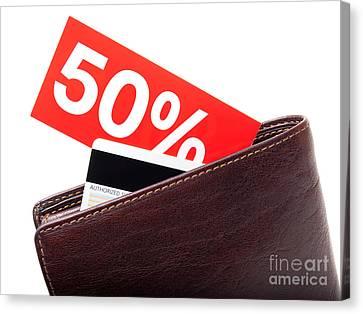Discount Wallet Canvas Print