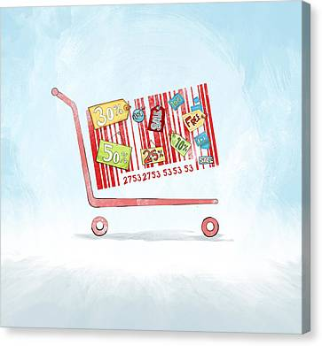 Discounted Sale Advertisement Canvas Print by Fanatic Studio / Science Photo Library