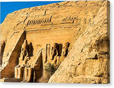 Discovering The Nubian Monuments Of Ramses II Canvas Print by Mark E Tisdale