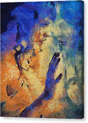 Canvas Print featuring the painting Discovering Yourself by Joe Misrasi