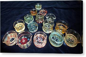 Dishes Canvas Print by Glass Dabber