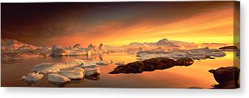 Mysterious Sunset Canvas Print - Disko Bay, Greenland by Panoramic Images