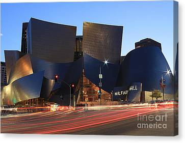 Disney Concert Hall Canvas Print by Kevin Ashley