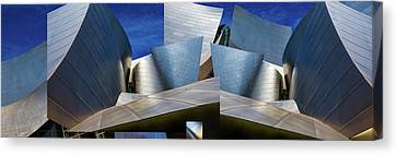 Hall Canvas Print - Disney Concert Hall-montage (color Version) by Ron Jones