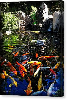 Disney Epcot Japanese Koi Pond Canvas Print