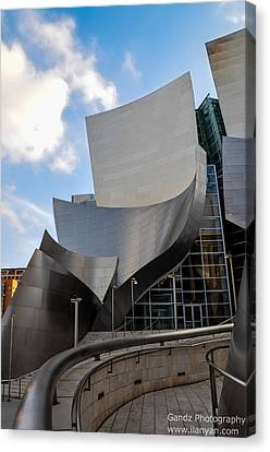 Canvas Print featuring the photograph Disney Hall by Gandz Photography