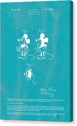 Disney Mickey Mouse Canvas Print by Marlene Watson