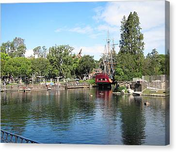 Disneyland Canvas Print - Disneyland Park Anaheim - 121214 by DC Photographer