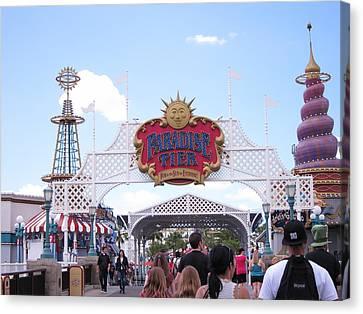 Disneyland Park Anaheim - 121236 Canvas Print
