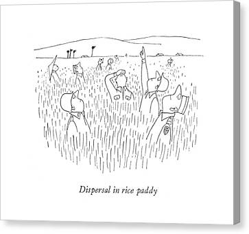 Dispersal In Rice Paddy Canvas Print by Saul Steinberg