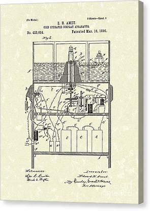 Display Apparatus 1890 Patent Art Canvas Print