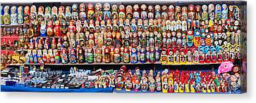 Display Of The Russian Nesting Dolls Canvas Print by Panoramic Images