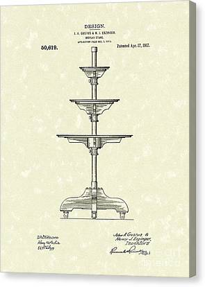 Display Stand 1917 Patent Art Canvas Print