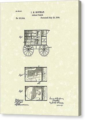 Display Wagon 1884 Patent Art Canvas Print