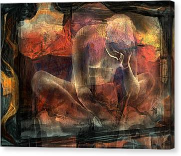 Warm Canvas Print - Disquietude-days Of Nothing (2) by Sol Marrades