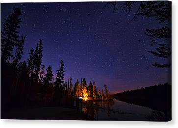 Distant Campfire Canvas Print
