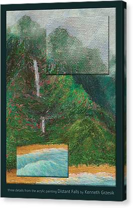 Distant Falls Details Canvas Print by Kenneth Grzesik