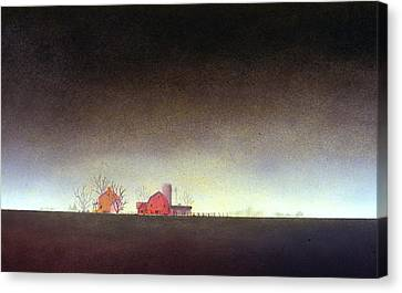 Distant Farm Canvas Print by William Renzulli