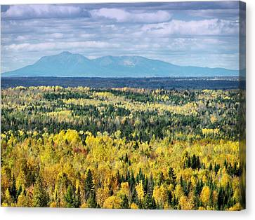 Canvas Print featuring the photograph Distant Mountain by Gene Cyr