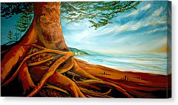 Canvas Print featuring the painting Distant Shores Rejoice by Meaghan Troup