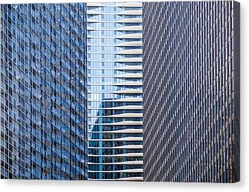 Distinctive Hotel Between Skyscrapers Canvas Print