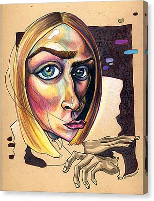 Distorted Beauty Canvas Print by John Ashton Golden