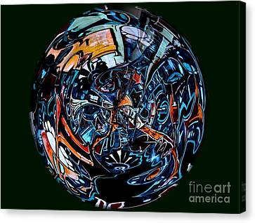 Distorted Earth - No.8345 Canvas Print by Joe Finney