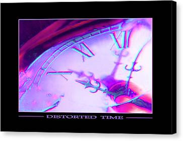Distorted Time Canvas Print