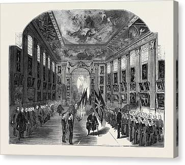 Distribution Of The Nelson Medals, In The Painted Hall Canvas Print by English School