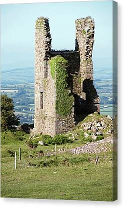 Disused Copper Mine Engine House Canvas Print by Sinclair Stammers