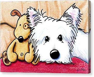Ditto And Pudge Canvas Print by Kim Niles