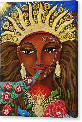 Divine Breath Canvas Print - Diva Dawns by Amber Bonnici