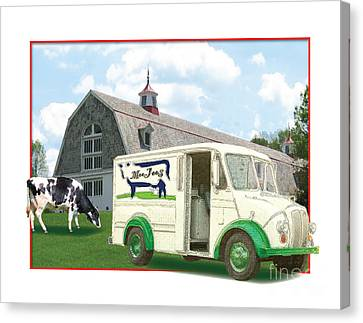 1950s Portraits Canvas Print - Divco Delivery Truck by Dan Knowler