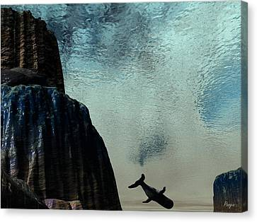 Dive Canvas Print by John Pangia