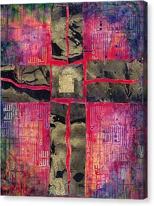 Divided Cross Canvas Print by Laila Shawa