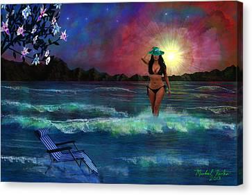 Divine Beauty Canvas Print by Michael Rucker