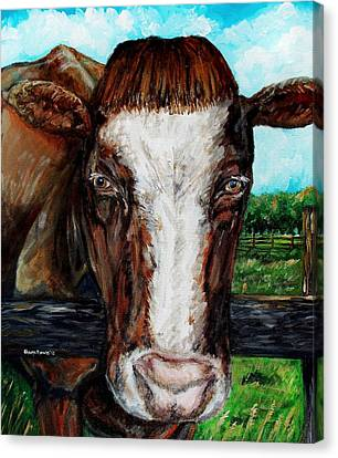 Divine Bovine Canvas Print by Shana Rowe Jackson