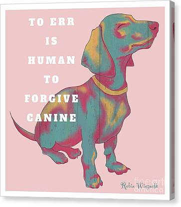 Divine Canine Canvas Print by Robin Wiesneth