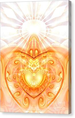 Divine Love Canvas Print by Indira Emmerlich