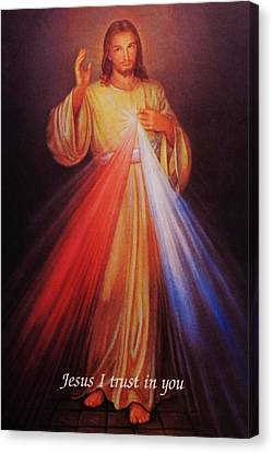 Divine Mercy Big File Canvas Print by Anna Baker