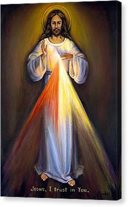Divine Mercy I Canvas Print by Sheila Diemert