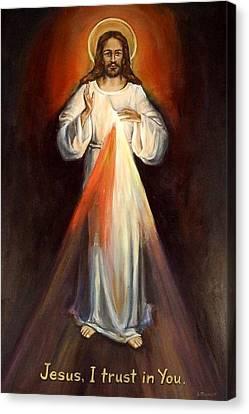Divine Mercy II Canvas Print by Sheila Diemert